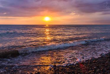Sunset over Abkhazia by lievayur