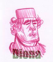 Kadhafi sketch by DionaK