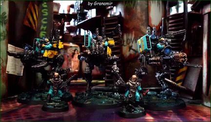 40k cult genestaler sentinel unit by Granamir