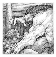 Beowulf vs Grendel by TheFool432