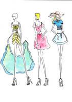 fashion sketches by CdCblanc