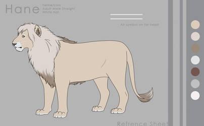 Feline Hane refference sheet by aluckymuse