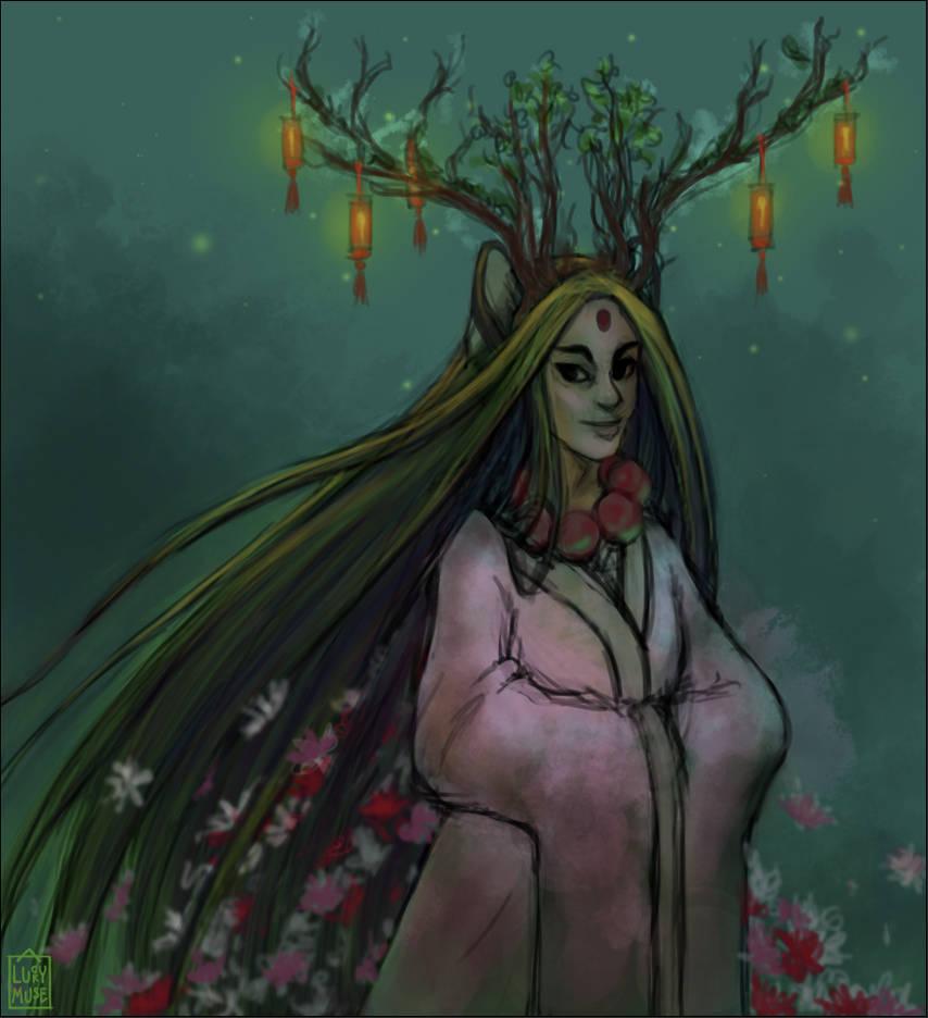 Reward Sketch Zarlarck 06: Wood Fairy by aluckymuse