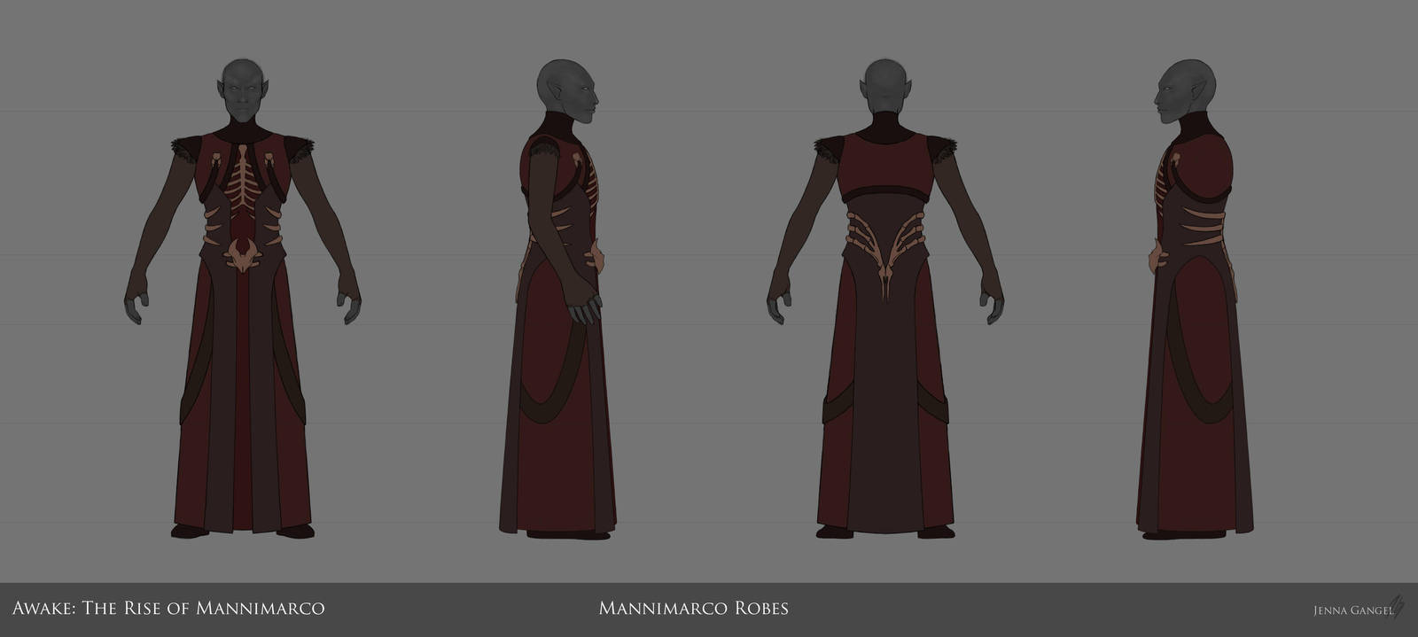 Mannimarco Necromancer Robes Modelsheet by aluckymuse