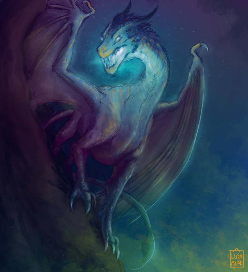 Reward Sketch Zarlarck 07: Pseudo Dragon Familiar by aluckymuse