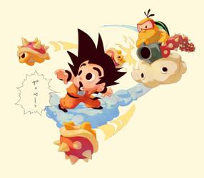 Goku vs. Lakitu by Chuckmingus