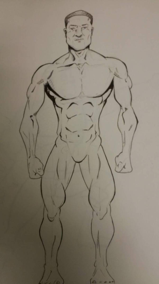 Anatomy sketch by FarosGFX