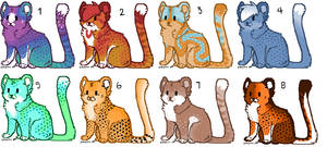 More cheetah Adopts! (OPEN) by Flashpelt1