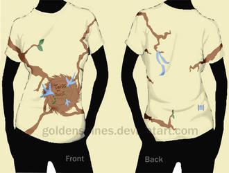Shirt design mock up 1. by goldenspines