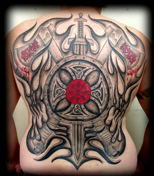 Viking Back Tattoo by rustyshacklefjord