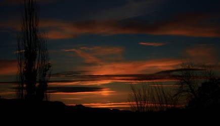 Sunset sky by rustyshacklefjord