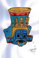Pottery Tlaloc by Amaterasu-Omikami