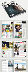 Magazine Template - InDesign 56 Page Layout V1 by BoxedCreative