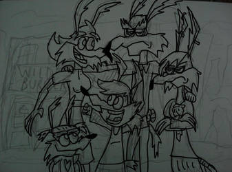 wile.e family by kickazzjohnni
