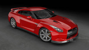 Red GT-R R35  front-update by megatama