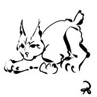 Inktober 2018 #6 - Balkan Lynx by callanerial