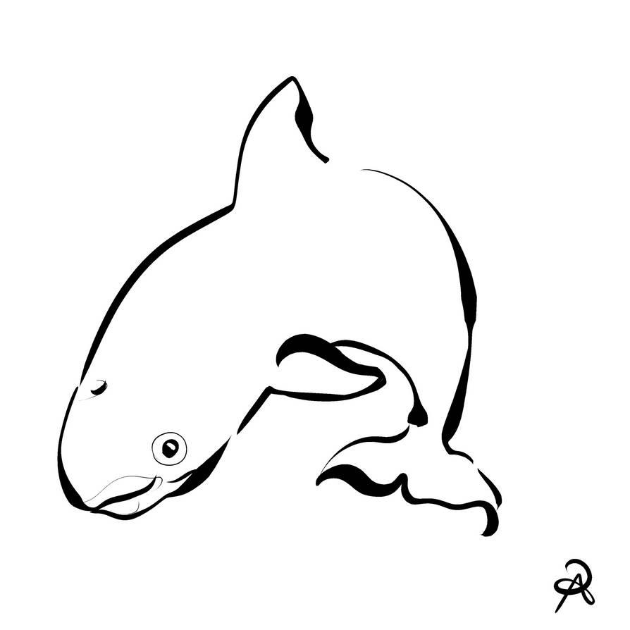Inktober 2018 #31 - Vaquita by callanerial
