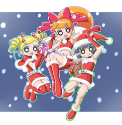 Santa Girls Z by cc-kk