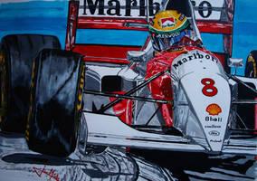 Ayrton Senna Monaco 93 by JuanCMendez