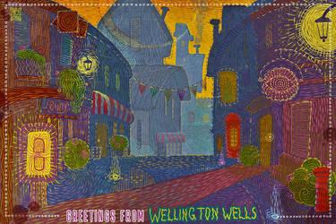 Wellington Wells postcard (the shabby version) by shuma-the-cat