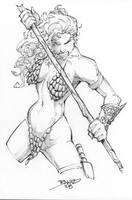 Red Sonja Drawring by rantz
