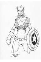 Captain America? Drawring by rantz