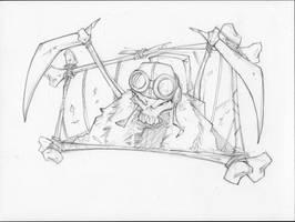 Sample Pencils 2 Skull Pilot by rantz