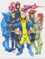 Commission XMEN Team Blue by rantz
