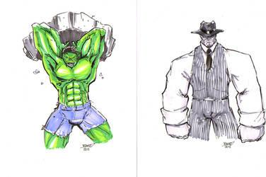BrawnOne Commissions Hulks by rantz