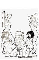 THE GIRLS commission Print by rantz