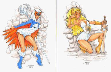MOTU She Ra and the Sorceress Print Set by rantz