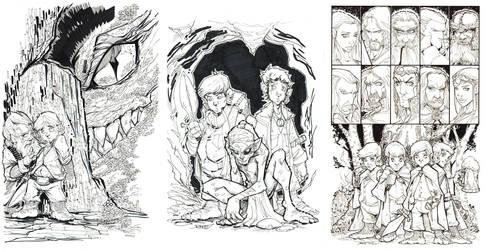 Tolkien Bw Set by rantz