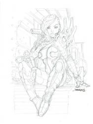 SciFi Girl High Res Pencils by rantz