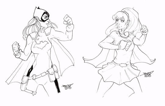 Batgirl vs Supergirl by rantz