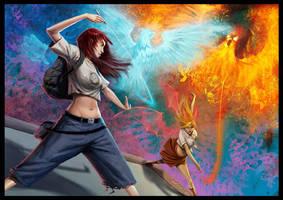 Art battle by drazebot