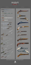Assassin's Creed Rogue weapons by drazebot
