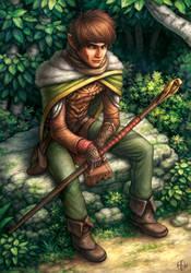 Masen, Half Elf Wizard by AlvinHew