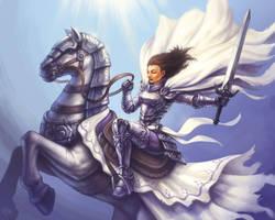 Jocelyn, the Holy Knight by AlvinHew
