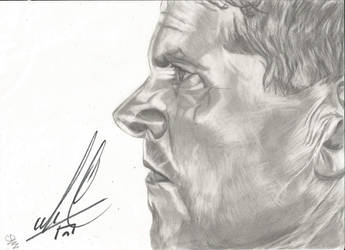 Michael Cudlitz Autographed Drawing by KJZombieKiller