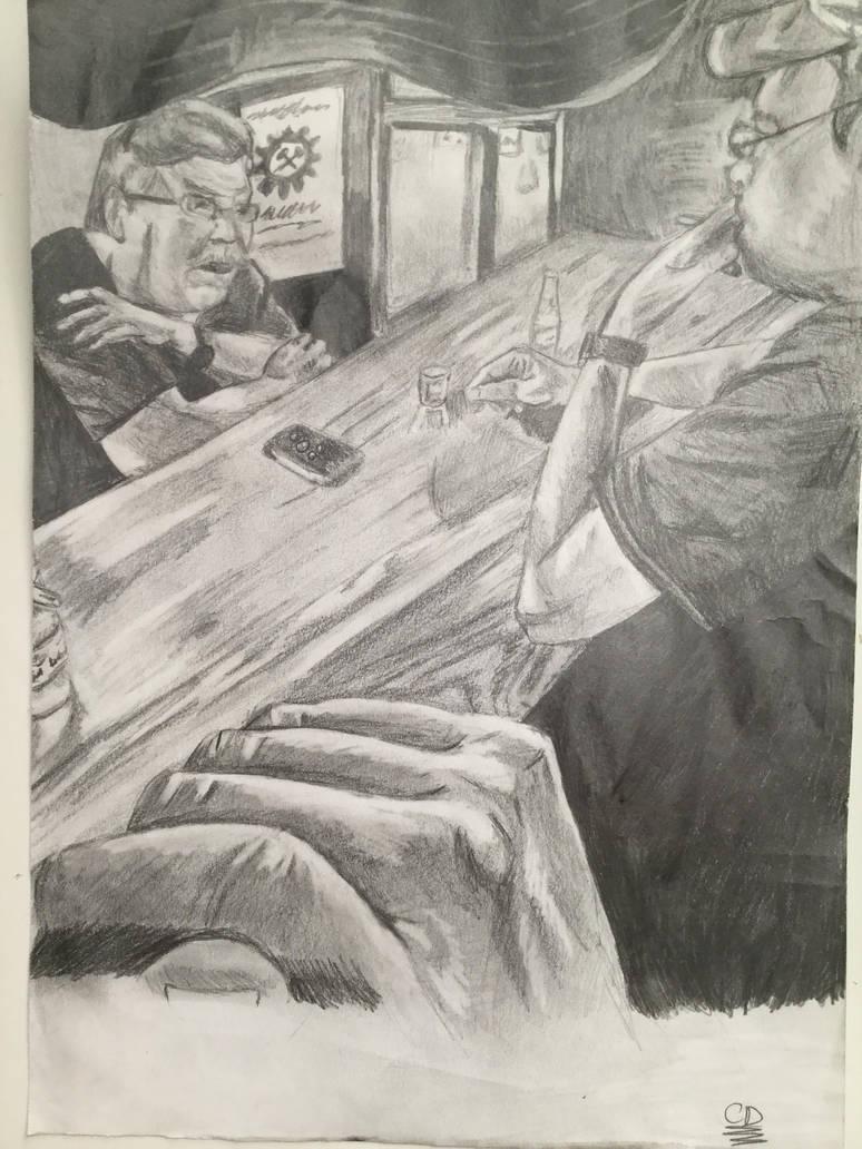 Drunk and pondering by KJZombieKiller