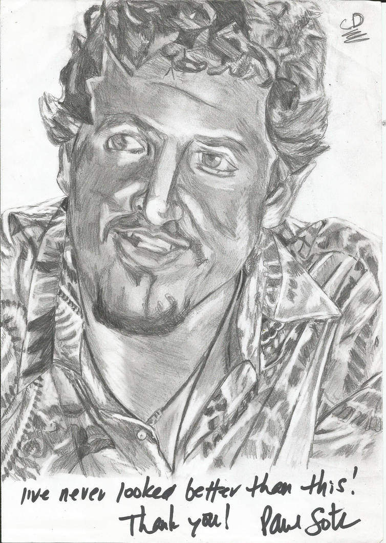 Paul Soter autographed drawing by KJZombieKiller