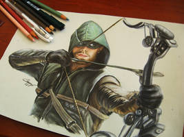 arrow oliver queen stephen amell hero realistic po by CansuVURAL