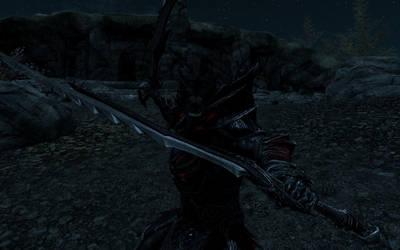 My Main Skyrim Character (Night) by DrakoWolfborn