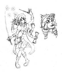 DND Character Art by GuyverSnake