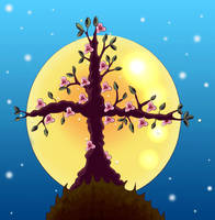 The tree apon a hill by Heartsdesire-fantasy