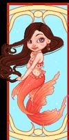 Art deco mermaid by Heartsdesire-fantasy