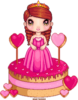 Sweet heart sugary sweet Doll Cake by Heartsdesire-fantasy