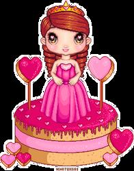 Sweet heart sugary sweet Doll Cake by Heartsdesire-fantasy