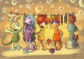 Fraggle Rock: Laundry Day by aerinsol