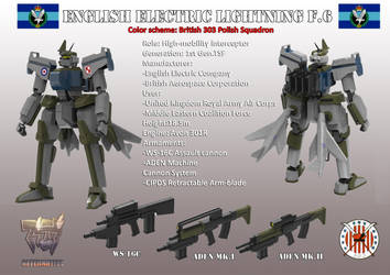 Muv-Luv The Euro Front: English Electric Lightning by larrynguyen0096